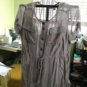 DKNY gray dress